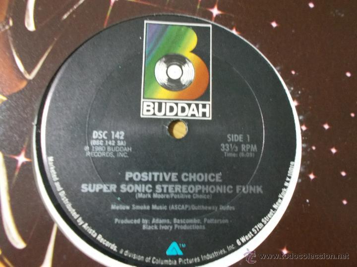 Discos de vinilo: POSITIVE CHOICE. SUPER SONIC STEREOPHONIC FUNK - Foto 3 - 53872265
