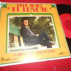 Discos de vinilo: PEPE NUÑEZ EL LOREÑO EL NIÑO Y EL TORO/FLORES PA TU PELO 7 SINGLE 1971 DUENDE/EKIPO PROMO EX. Lote 53877052