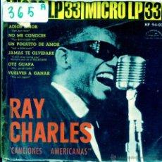 Discos de vinil: RAY CHARLES / ADIOS MI AMOR / JAMAS T OLVIDARE + 4 (MICRO LP 1962). Lote 53878338