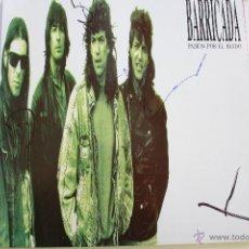 Discos de vinilo: BARRICADA- PASION POR EL RUIDO- LP 1989 + ENCARTE- FIRMADO POR LA BANDA-EXCELENTE ESTADO.. Lote 53880937