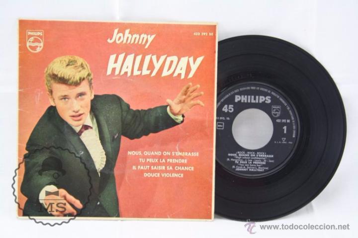 EP VINILO - JOHNNY HALLYDAY. NOUS, QUAND ON S'EMBRASSE - PHILIPS - ESPAÑA, AÑO 1961 (Música - Discos de Vinilo - EPs - Pop - Rock Extranjero de los 50 y 60)