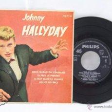 Discos de vinilo: EP VINILO - JOHNNY HALLYDAY. NOUS, QUAND ON S'EMBRASSE - PHILIPS - ESPAÑA, AÑO 1961. Lote 53881737
