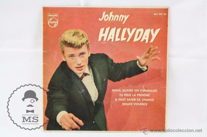 Discos de vinilo: EP Vinilo - Johnny Hallyday. Nous, Quand On SEmbrasse - Philips - España, Año 1961 - Foto 2 - 53881737