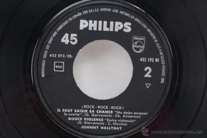 Discos de vinilo: EP Vinilo - Johnny Hallyday. Nous, Quand On SEmbrasse - Philips - España, Año 1961 - Foto 4 - 53881737