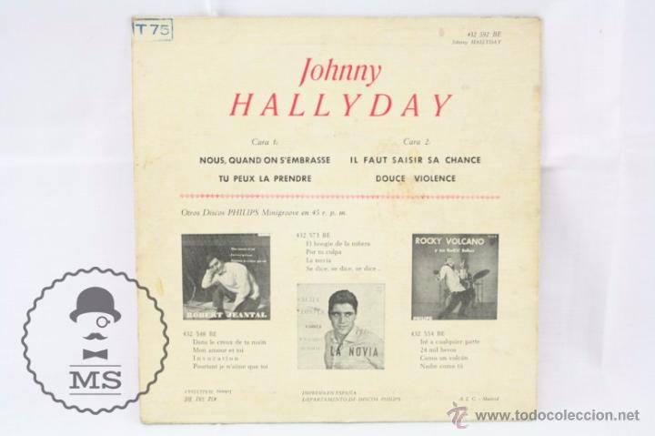 Discos de vinilo: EP Vinilo - Johnny Hallyday. Nous, Quand On SEmbrasse - Philips - España, Año 1961 - Foto 5 - 53881737