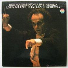 Discos de vinilo: BEETHOVEN: SINFONIA Nº 3. LORIN MAAZEL. MASTERWORKS CBS 1979. SIN ESCUCHAR. Lote 53892791