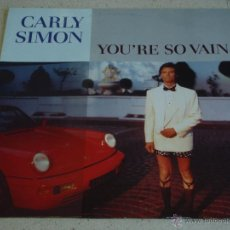 Discos de vinilo: CARLY SIMON ( YOU'RE SO VAIN - THE GIRL YOU THINK YOU SEE - ANTICIPATION ) 1991-GERMANY MAXI45. Lote 53893490