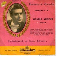 Discos de vinilo: MANUEL AUSENSI - ROMANZAS DE ZARZUELAS - SELECCIÓN Nº 2. Lote 53898622