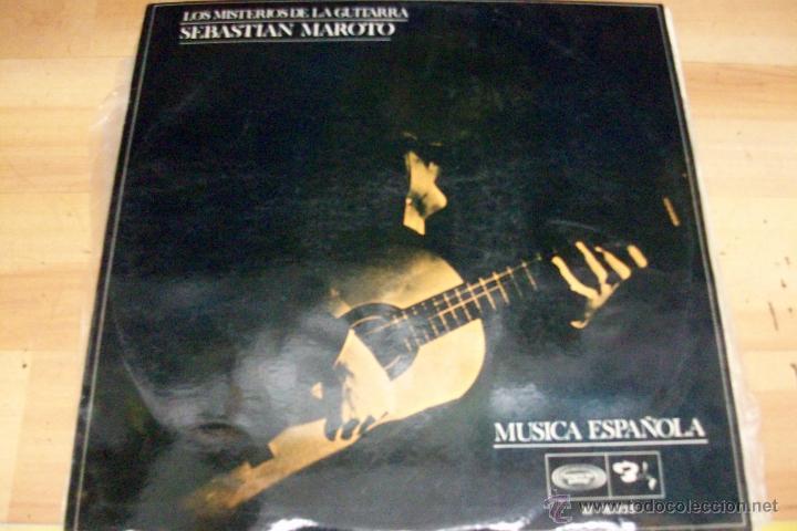 LOS MISTERIOS DE LA GUITARRA-SEBASTIAN MAROTO-AÑO 1968 (Música - Discos - LP Vinilo - Flamenco, Canción española y Cuplé)