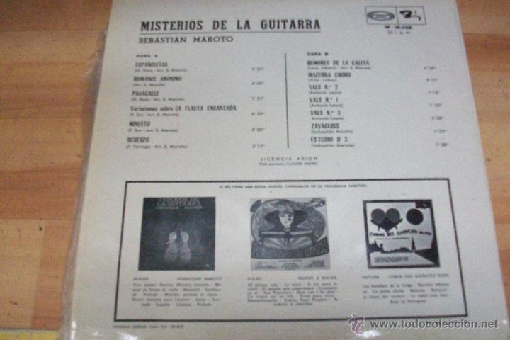 Discos de vinilo: LOS MISTERIOS DE LA GUITARRA-SEBASTIAN MAROTO-AÑO 1968 - Foto 2 - 53939650