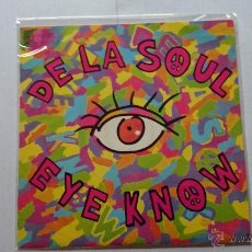 Discos de vinilo: DE LA SOUL - EYE KNOW / THE MACK DADDY ON THE LEFT (1990). Lote 53941544