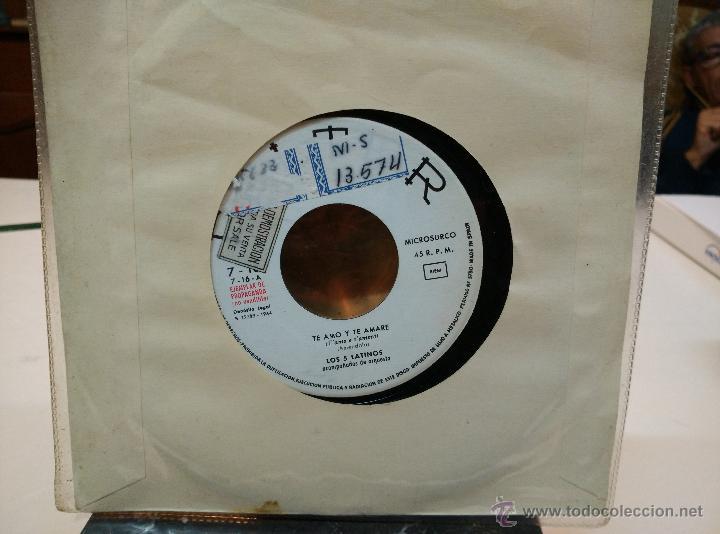 Discos de vinilo: LOS 5 LATINOS EP Te amo y te amaré + LOS 4+4. Geronimo - Foto 2 - 53942758