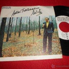 Discos de vinilo: MICKY ADIOS TRISTEZAS / BESOS 7 SINGLE 1972 RCA VICTOR PROMO EXCELENTE ESTADO. Lote 53946180