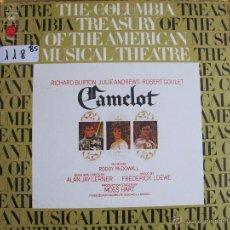 Discos de vinilo: LP - CAMELOT - MUSICA DE FREDERICK LOEWE (USA, CBS 1973). Lote 53950372