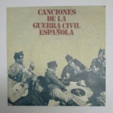 Discos de vinilo: DISCO SINGLE CANCIONES DE LA GUERRA CIVIL. Lote 53954311