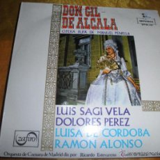 Discos de vinilo: DON GIL DE ALCALA. MANUEL PENELLA. LUIS SAGI VELA. EP. MONTILLA 1959. IMPECABLE. Lote 53962254