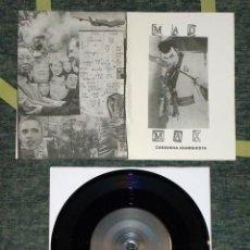 Discos de vinilo: CARAVANA ANARQUISTA - MAD MAX - 7'' [LIM. 203]. Lote 53963777
