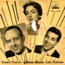 Discos de vinilo: FRANCK POURCEL-GLORIA LASSA - LUIS MARIANO. Lote 53967992