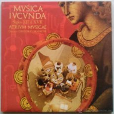 Discos de vinilo: ATRIUM MUSICAE, GREGORIO PANIAGUA - MÚSICA IUCUNDA, SIGLOS XII A XVII - LP VINILO AÑO 1976. Lote 53975393