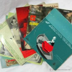 Discos de vinilo: 9 SINGLES VINILO MÚSICA TRADICIONAL VASCA. Lote 53980530