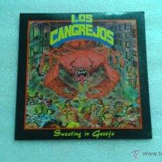 Discos de vinilo: LOS CANGREJOS - SWEATING IN GASOFA EP 1990. Lote 53983654