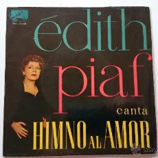 Discos de vinilo: EDITH PIAF - HYMNE A L'AMOUR (HIMNO AL AMOR) / OURAGAN / MEA CULPA / CRI DU COEUR (EP 1960). Lote 53988301