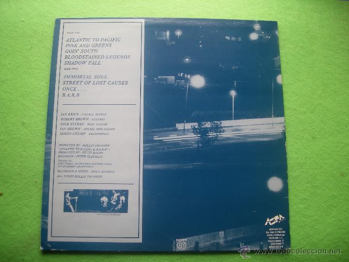 Discos de vinilo: ROLLIN THUNDER HOWL LP SPAIN 1988 PDELUXE - Foto 2 - 53988592