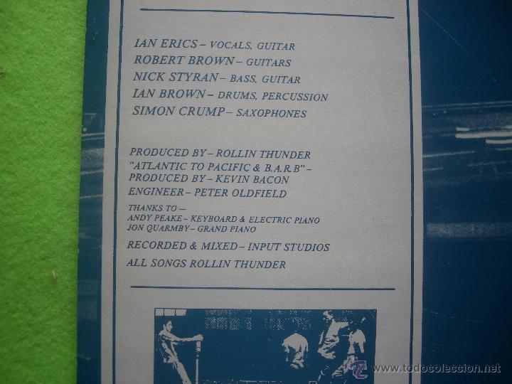 Discos de vinilo: ROLLIN THUNDER HOWL LP SPAIN 1988 PDELUXE - Foto 4 - 53988592