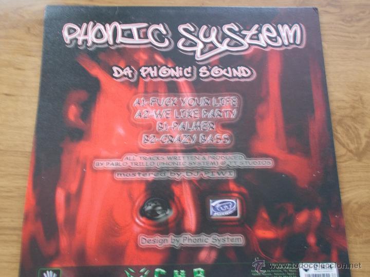 Discos de vinilo: PHONIC SYSTEM. DA PHONIC SOUND. CONTRASEÑA RECORDS - Foto 3 - 53989181
