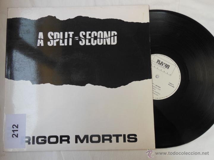 A SPLIT SECOND : RIGOR MORTIS (MAXI SINGLE) 1987 RAYA 009 (Música - Discos de Vinilo - Maxi Singles - Disco y Dance)
