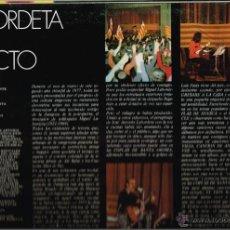 Discos de vinilo: LABORDETA: QUE VAMOS A HACER +LABORDETA EN DIRECTO+CANTES DE LA TIERRA ADENTRO+REGALO LA BULLONERA 3. Lote 54002791