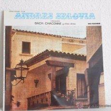 Discos de vinilo: ANDRÉS SEGOVIA - INTERPRETA BACH CHACONNE Y OTRAS OBRAS (MCA, 65 98 867, LP, 1977) GUITARRA . Lote 54004138