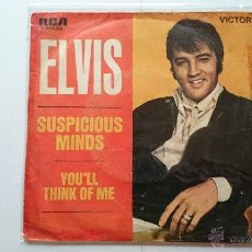 Dischi in vinile: ELVIS PRESLEY - SUSPICIOUS MINDS / YOU'LL THINK OF ME (1969). Lote 54004833