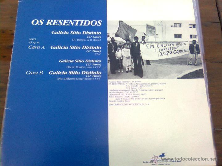 RESENTIDOS, OS - GALICIA SITIO DISTINTO + 3 (GASA, 1989) - YA MUY ESCASO (Música - Discos de Vinilo - Maxi Singles - Grupos Españoles de los 70 y 80)