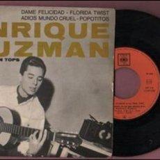 Discos de vinilo: DISCO EP DE ENRIQUE GUZMAN ET LES TEEN TOPS . DE CBS 5630 - FRANCIA. Lote 54010555