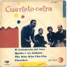 Discos de vinilo: QUARTETTO CETRA, EP, ILTESTAMENTO DEL TORO + 3, AÑO 1961. Lote 54014421