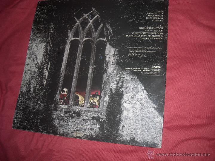 Discos de vinilo: MEAT LOAF lp BAD ATTITUDE 1984 con encarte original spain, - Foto 2 - 54015549