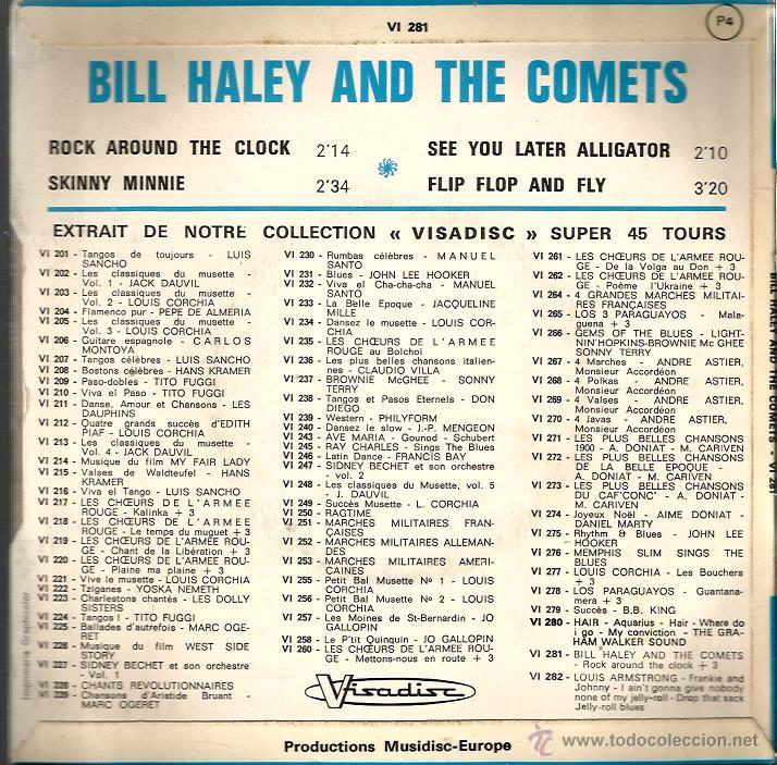 Discos de vinilo: EP BILL HALEY AND THE COMETS : ROCK AROUND THE CLOCK - Foto 2 - 54018154