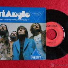 Discos de vinilo: TRIANGLE - LES BRUMES DE CHATOU // PONCTION BINAIRE // SINGLE // 1971 // FRANCE (IZARRA LIQUEUR). Lote 54019428