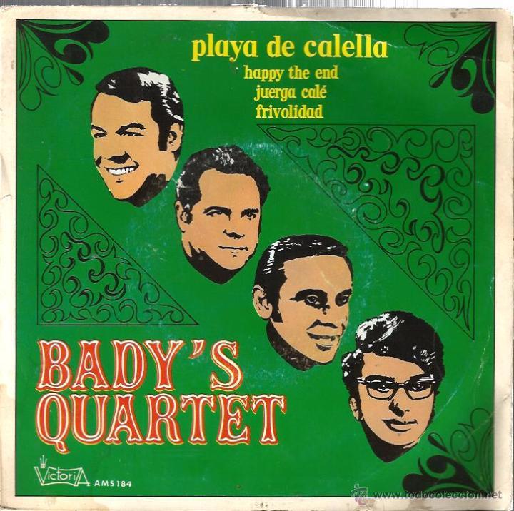 EP BADY´S QUARTET : PLAYA DE CALELLA (Música - Discos de Vinilo - EPs - Grupos Españoles de los 70 y 80)
