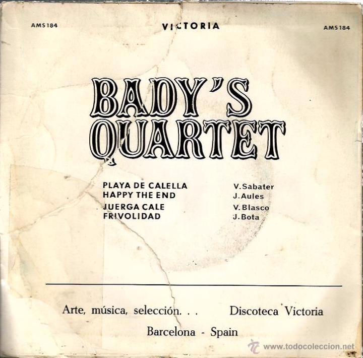 Discos de vinilo: EP BADY´S QUARTET : PLAYA DE CALELLA - Foto 2 - 54028460