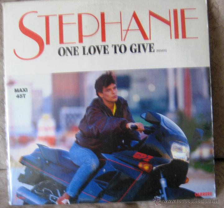 VINILO:STEPHANIE- ONE LOVE TO GIVE ( CANTA LA PRINCESA ESTEFANIA DE MONACO) (Música - Discos de Vinilo - Maxi Singles - Pop - Rock - New Wave Extranjero de los 80)