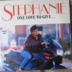 Discos de vinilo: VINILO:STEPHANIE- ONE LOVE TO GIVE ( CANTA LA PRINCESA ESTEFANIA DE MONACO). Lote 54031119