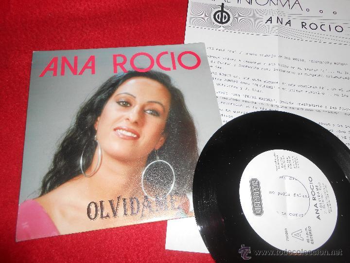 ANA ROCIO OLVIDAME/TANGO 7 SINGLE 1992 DIAMANTE PROMO + HOJA PROMO EX (Música - Discos - Singles Vinilo - Solistas Españoles de los 70 a la actualidad)