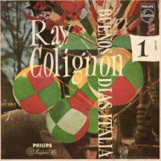 Discos de vinilo: RAY COLIGNON (ORGANO), EP, GUAGLIONE + 3, AÑO 1958. Lote 54049611