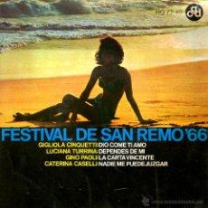 Discos de vinilo: FESTIVAL DE SAN REMO 66. Lote 54050965