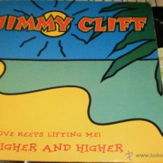 Discos de vinilo: JIMMY CLIFF MAXI HIGHER AND HIGHER.1994. Lote 54051291