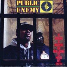 Discos de vinilo: LP PUBLIC ENEMY IT TAKES A NATION OF MILLIONS TO HOLD US BACK VINILO HIP HOP. Lote 238571425