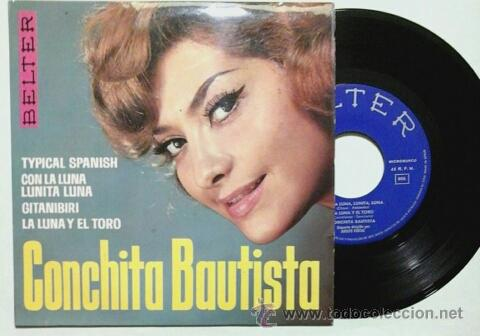 CONCHITA BAUTISTA -EP- TYPICAL SPANISH + 3 OR SPAIN 60'S (Música - Discos de Vinilo - EPs - Solistas Españoles de los 50 y 60)