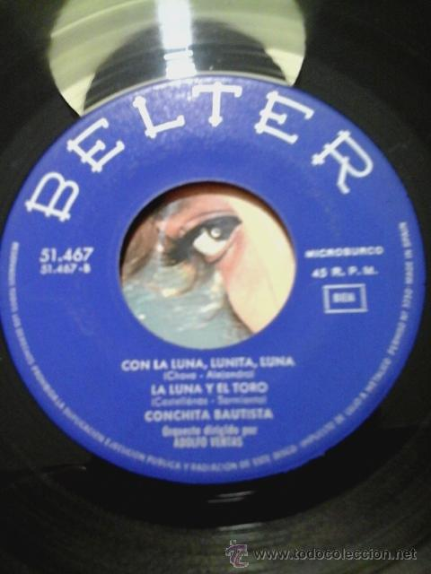 Discos de vinilo: CONCHITA BAUTISTA -EP- TYPICAL SPANISH + 3 OR SPAIN 60'S - Foto 3 - 54066589